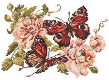 Cross Stitch Kit pivoines et papillons Art. 42-06