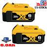 (2) For DEWALT DCB206-2 20V 20 Volt Lithium Ion 6.0AH Battery Packs New DCB205