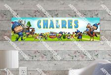 Personalized/Customized Mike the Knight Name Poster Wall Art Decoration Banner