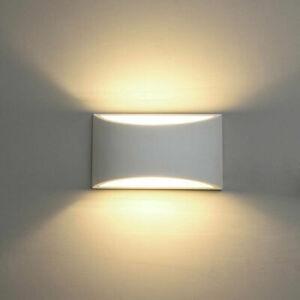 APPLIQUE DA PARETE A MURO PER INTERNO DESIGN MODERNO IN GESSO G9 LAMPADA LUCE