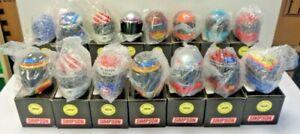15 SIMPSON MINI HELMETS NASCAR SIGNATURE SERIES, W/ COA,  WALLACE - PETTY & MORE