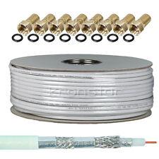 50m Koaxialkabel 135dB 4K UHD SAT Kabel Antennenkabel DIGITAL Satkabel KRONSTAR