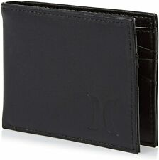 Hurley Men's Black Leather Bifold Wallet