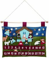 New! Nativity Scene Jesus in Manger Advent Calendar Christmas Countdown Fabric