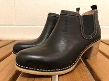 DANSKO Womens Harlene Black Waxy Burnished Leather Boots Booties Sz 40 (9.5-10)