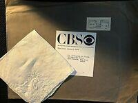 "CAROL BURNETT PERSONALLY OWNED ""C"" MONOGRAMMED HANDKERCHIEF W/ORIG CBS ENVELOPE!"