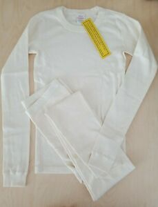 NWT HANNA ANDERSSON ECRU SOLID DIY LONG JOHN PAJAMAS 160 14 SOLD OUT!