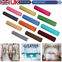 25m X 29cm Organza Roll Fabric Sheer Chair Sash Bows Wedding Table Runner Party