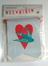 2m BE MINE Proposal Love BUNTING GARLAND 9 LGE STANDARD TYPE FLAGS Pink Bluebird