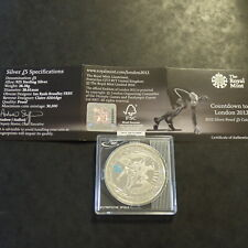 "UK 5£ 2009 Olympic London ""Countdown"" silver 925 (28.3g)+CoA"