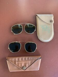 vintage ray ban bausch lomb Clip On sunglasses