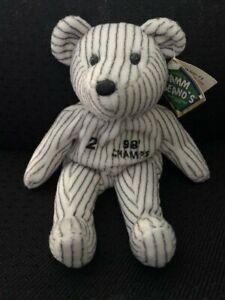 Derek Jeter #2 Salvino's Bamm Beano's NY Yankees '98 Champs Beanie Baby w/ Tags