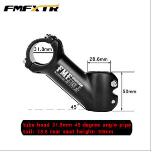 Degrees Wide-angle Negative Bicycle Stem 90MM Riser Mountain Road Cycling Parts