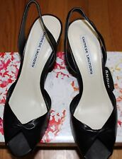 $90 CHINESE LAUNDRY BUCANA BLACK OPEN TOE LEATHER SANDAL SZ 9.5M
