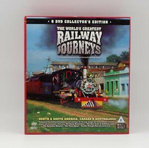The Worlds Greatest Railway Journeys. 8 DVD Box Set, N&S America, Canada & Aus