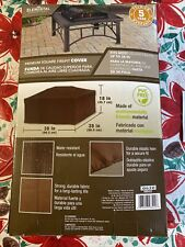 38-in Brown Square Firepit Cover heavy-weight fabric Water-resistant Uv protect