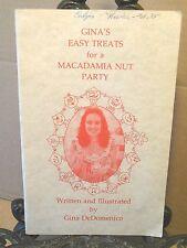Hawaiian Macadamia Nut Co COOKBOOK Honokaa Hawaii 1979 1st Easy Treats Recipes