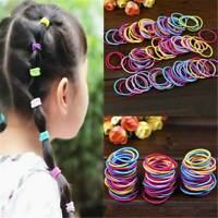 100X Baby Kids Girl Elastic Hair Bands Ponytail Holder Head Rope Ties Hair Rope