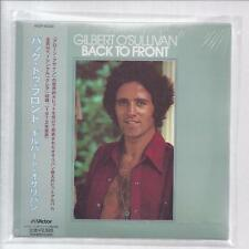GILBERT O 'Sullivan Back to Front Japon MINI LP CD papersleeve VICP - 62328 New