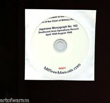 Japanese Report CD-rom # 162 Southwest Area Opers E.Indies  Apr 1944 to Aug 1945