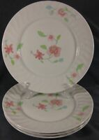 Royal Worcester Bouquet Dinner Plates Lot of 4 Pink Flowers English Porcelain