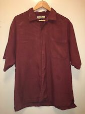 Tommy Bahama Short Sleeve Shirt Button Down Maroon - Ready For Fun