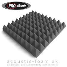 "24x AFP305 Pro Acoustic Foam Pyramid Tiles 12"" 305mm Studio Sound RoomTreatment"