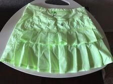 Lululemon Pacesetter Skirt Skort Neon Yellow Green Polka Dot 4T Tall