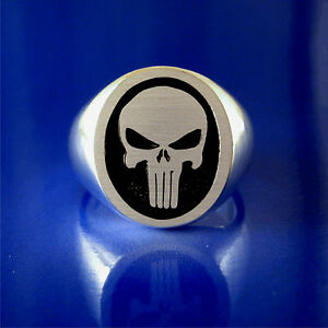 Punisher Ring - Navy Seal & Other Military Units - Heavy Solid Sterling Silver
