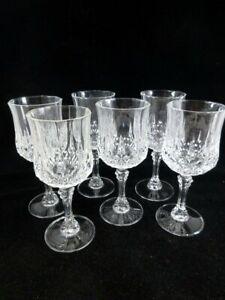 Cris D'Arques/Durand Longchamp 6 Water Goblets Glasses