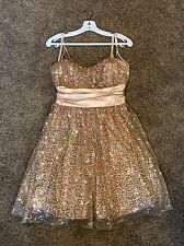 13-14 Gold Sequin Prom  Homecoming  Pageant Formal Bridesmaid Cocktail Dress