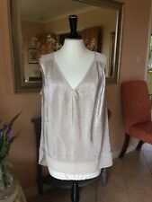 OASIS SHIMMER SLEEVELESS V NECK TOP SIZE LARGE New without tags