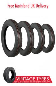 Set of 4 x Waymaster 450-19 Car Tyres 450x19 4.50x19 MG T Series Lea Francis