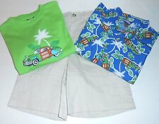 Little Tikes Toddler Boys Three (3) Piece Short Set Blue 4T NWT