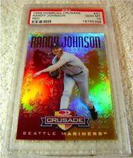 HOF RANDY JOHNSON 1998 DONRUSS CRUSADE RED #41 PSA 10 Only 1 In existence! Pop 1
