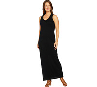 Peace Love World Drape Back Slub Knit Maxi Dress, Black, Size L, A290292