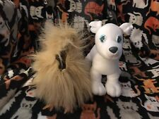 GALOOB BOW WOW BOUTIQUE PLUSH WHITE DOG REMOVABLE FUR COAT STUFFED ANIMAL