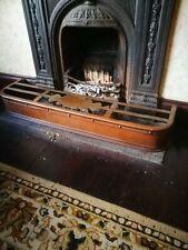 Arts  & Crafts decorative copper fireplace fender