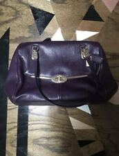 COACH Purple Bag With Gold Embellishment
