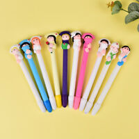 5Pcs Character Doctor Nurse Polymer Caly Ball Ballpoint Pens Creative StationeNT