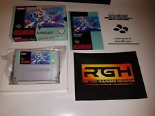 MEGA MAN X SUPER NINTENDO SNES GAME FAH CODE EX CON BOX SEALED ONE END