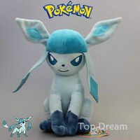 "New PK Glaceon Plush Soft Toy Character Stuffed Animal Doll Teddy 12"" NWT"