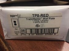 PASS & SEYMOUR TRADEMASTER TP8-RED WALL PLATE Lot of 25