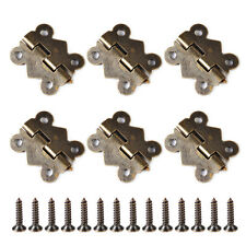 Vintage Antique Brass Butterfly Hinge with Screws for Jewelry Box 20pcs 20x17mm