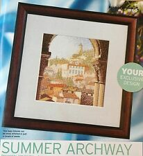 Cross Stitch Pattern Summer Archway Holiday Design Village Picture Chart Only
