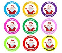 Personalised Christmas Stickers From Santa Father Christmas Present Labels x 48
