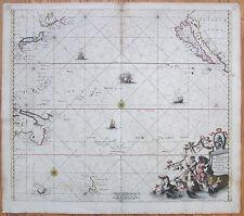 De Wit Important Map Pacific Australia California Magnum Mare del Zur - 1675