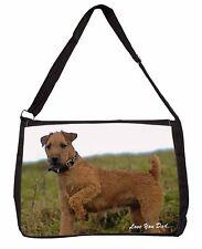 Lakeland Terrier 'Love You Dad' Large Black Laptop Shoulder Bag School, DAD-73SB