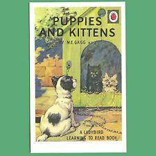 Carte postale-la Coccinelle Livre des chiots et chatons-Coccinelle Housse Livre