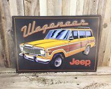 "Jeep Wagoneer SUV Embossed 20"" Metal Tin Sign Vintage Garage Man Cave Large New"